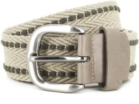 Fastrack Men Beige, Green Belt Beige