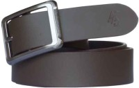 Sondagar Arts Men Formal Brown Genuine Leather Belt Brown