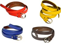 VICTORIA SECRET INDIA Girls, Women Red, Brown, Blue, Yellow Artificial Leather Belt RED, BLUE, BROWN, YELLOW