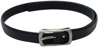 SkyWays Women Casual, Semi-formal Black Artificial Leather Belt (Black-02)