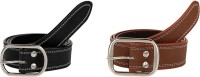 Stylla Men Casual Black, Brown Artificial Leather, Artificial Leather Belt Brown, Black