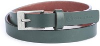 American Swan Women Casual Green Artificial Leather Belt Green