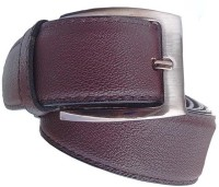 Wholesomdeal Men Casual Brown Synthetic Belt Brown