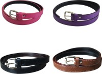 Verceys Girls, Women Casual Pink, Purple, Black, Tan, Brown Artificial Leather Belt Pink, Purple, Black, Tan, Brown