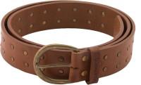 Blumerq Men Casual Brown Genuine Leather Belt Dk Tan Brown