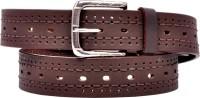 RK Leathers Men Brown Genuine Leather Belt Dark Brown