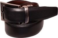 Cops Men Formal Black, Brown Genuine Leather Reversible Belt Black