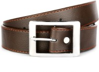Klazo Boys, Men Casual, Party, Formal, Evening Brown, Tan Genuine Leather, Artificial Leather, Metal Belt Brown