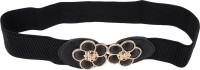 SRI Girls, Women Party, Formal, Casual, Evening Black Artificial Leather Belt BLACK