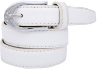 Dharavi Market Girls Casual White Synthetic Belt White-01