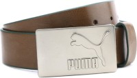 Puma Men Brown Synthetic Belt Tan, Posy Green, Matt Silver