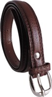 Elligator Women Casual, Formal, Party Brown Artificial Leather Belt Brown-01