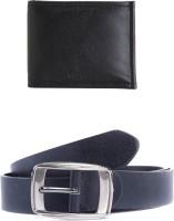 Elligator Men Casual Black Artificial Leather Belt Black