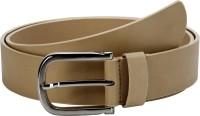 Orkee Men Casual Beige Artificial Leather Belt Beige-08