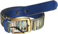 JAJV Women Casual Blue Canvas Belt Blue - BELE8NZGC9ZFXRNV