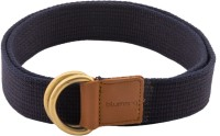 Blumerq Men Casual Blue Fabric Belt Navy Dk Brown