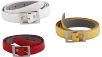 SRS Women Casual Red, White, Yellow Artificial Leather Belt Red-White-Yellow-23