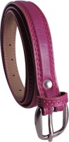 Elligator Women Casual, Formal, Party Maroon Artificial Leather Belt Maroon-01