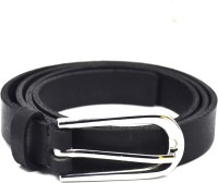 Crapgoos Girls, Women Party, Formal, Casual Black Genuine Leather Belt Black