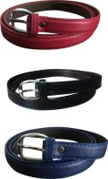 Verceys Girls, Women Casual Red, Black, Blue Artificial Leather Belt Red, Black, Blue