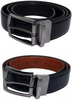 Els Men, Boys Formal Black, Brown, Black, Beige Synthetic Reversible Belt Black, Brown, Black, Beige