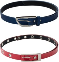 SkyWays Women Casual Red, Blue Artificial Leather Belt Red, Blue