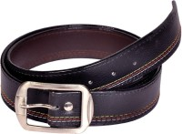 Swan Collection Boys, Men Formal, Casual, Evening Black Artificial Leather Belt Black1