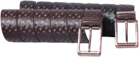 Rasso Men Casual, Formal Black, Brown Artificial Leather Reversible Belt Black, Brown