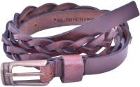 Bonafide Leathers Women Brown Genuine Leather Belt Brown