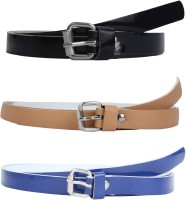SRS Women Casual Beige, Black, Blue Synthetic Belt Beige, Black, Blue
