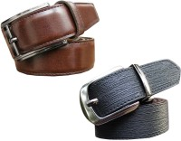 Winsome Deal Men Formal, Casual Black, Brown Artificial Leather Belt Black, Brown - BELE8HAAHQSDY5GH