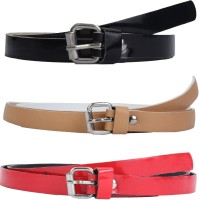 SRS Women Casual Beige, Black, Red Synthetic Belt Beige, Black, Red