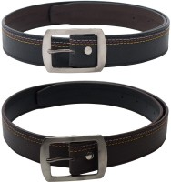 SkyWays Men Casual Black, Brown Artificial Leather Belt Black, Brown
