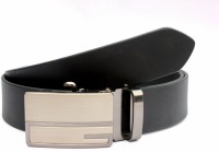 Tops Men Formal Black Genuine Leather Belt Black - BELE22FFW8CTWDG4
