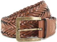 U.S. Polo Assn. Men Brown Genuine Leather Belt Brown