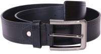 Lee Italian Men Formal, Casual, Evening, Party Black Genuine Leather Belt Black
