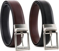 YOURS LUGGAGE Boys, Men Casual, Party, Formal Black, Brown Synthetic, Genuine Leather, Artificial Leather Reversible Belt BLACK, BROWN