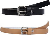 SRS Women Casual Beige, Black Synthetic Belt Beige, Black