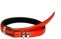 Swan Collection Girls, Women Casual, Formal Red Artificial Leather Belt K211RD