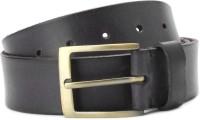 Louis Philippe Men Black Genuine Leather Belt Black