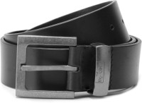 Levi's Men Black Metal, Genuine Leather Belt Black