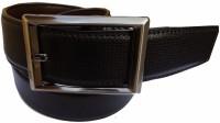 MMS Men Formal Black Canvas Reversible Belt (Black)