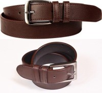 Daller Men Casual Brown, Brown Artificial Leather Belt Brown, Brown