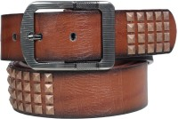 Blute Fittings Men Evening, Party Brown Artificial Leather Belt (Brown)