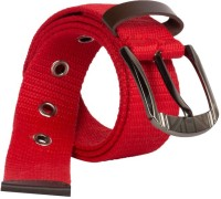 Aarip Boys, Girls, Men, Women Casual, Formal Red Canvas Belt Red-02