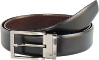 Elan Men Formal Black, Tan Genuine Leather Reversible Belt Black, Tan