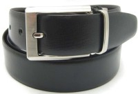 Lustre International Men Formal Black Genuine Leather Reversible Belt (Black, Brown)
