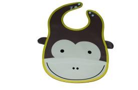 Abracadabra Animal Bib-Brown Monkey