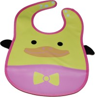 Abracadabra Animal Bib With Pocket-Yellow Duck (Yellow, Pink)