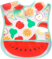 U & ME Plastic Bib With Crumb Catcher (Multicolor)